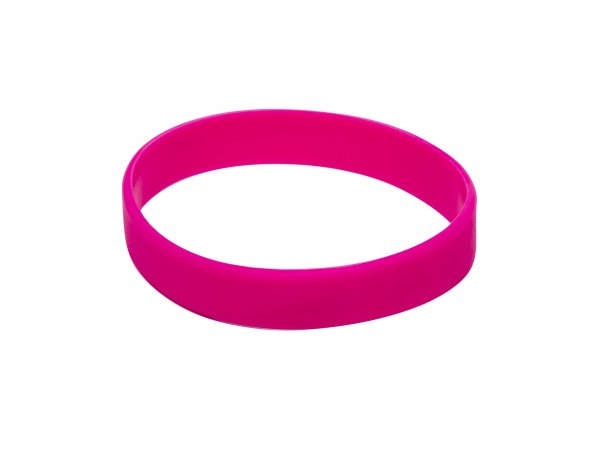 10 Pink Silicon Wristbands (PLAIN)