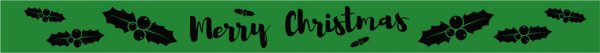 100 Christmas Green wristbands
