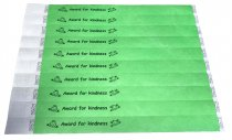 100 Green Award For Kindness Tyvek Wristbands 3/4″