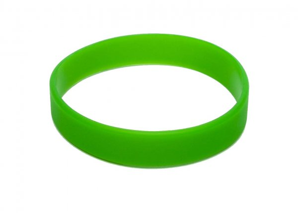 100 Green Silicon Wristbands (PLAIN)