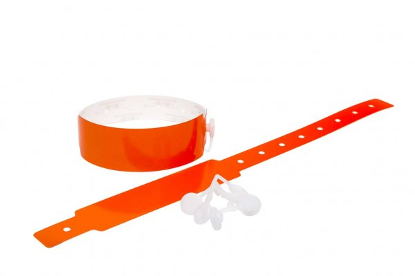 100 Plain Thermal Wristbands (Orange)