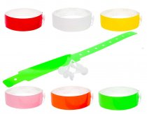 100 Thermal PLAIN wristbands (1 roll) PRINT YOUR OWN WRISTBANDS