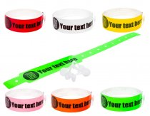 100 Thermal PRINTED wristbands (1 roll) PRINTED BY UK WRISTBANDS