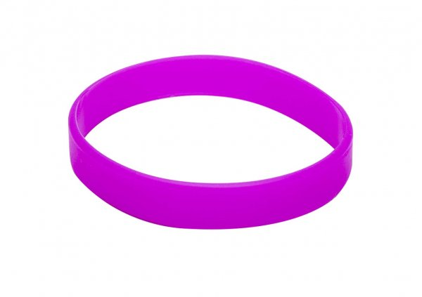 100 Violet Silicon Wristbands (PLAIN)