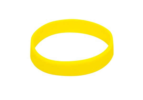 100 Yellow Silicon Wristbands (PLAIN)