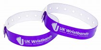 1000 Custom printed Purple L Shaped Wristbands