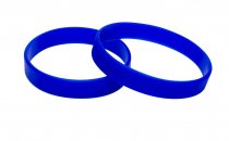 10 Royal blue Silicon Wristbands (PLAIN)