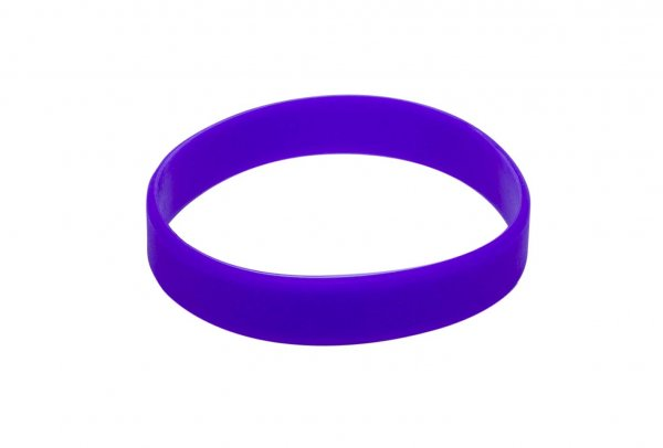 100 Purple Silicon Wristbands (PLAIN)