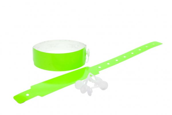 200 Plain Thermal Wristbands (Neon Green)