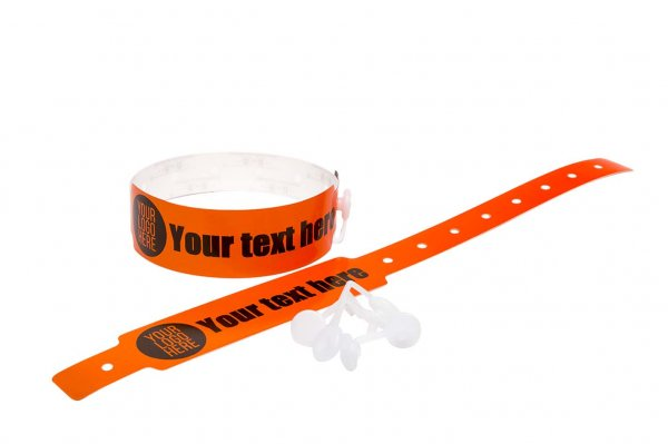 200 Printed Thermal Wristbands (Orange)
