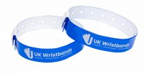 50 Custom printed Neon Blue L Shaped Wristbands
