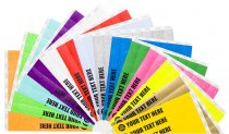 50 Custom Printed Premium Tyvek Wristbands