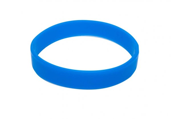 50 Sky Blue Silicon Wristbands (PLAIN)