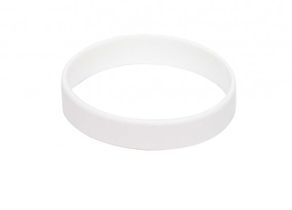 50 White Silicon Wristbands (PLAIN)