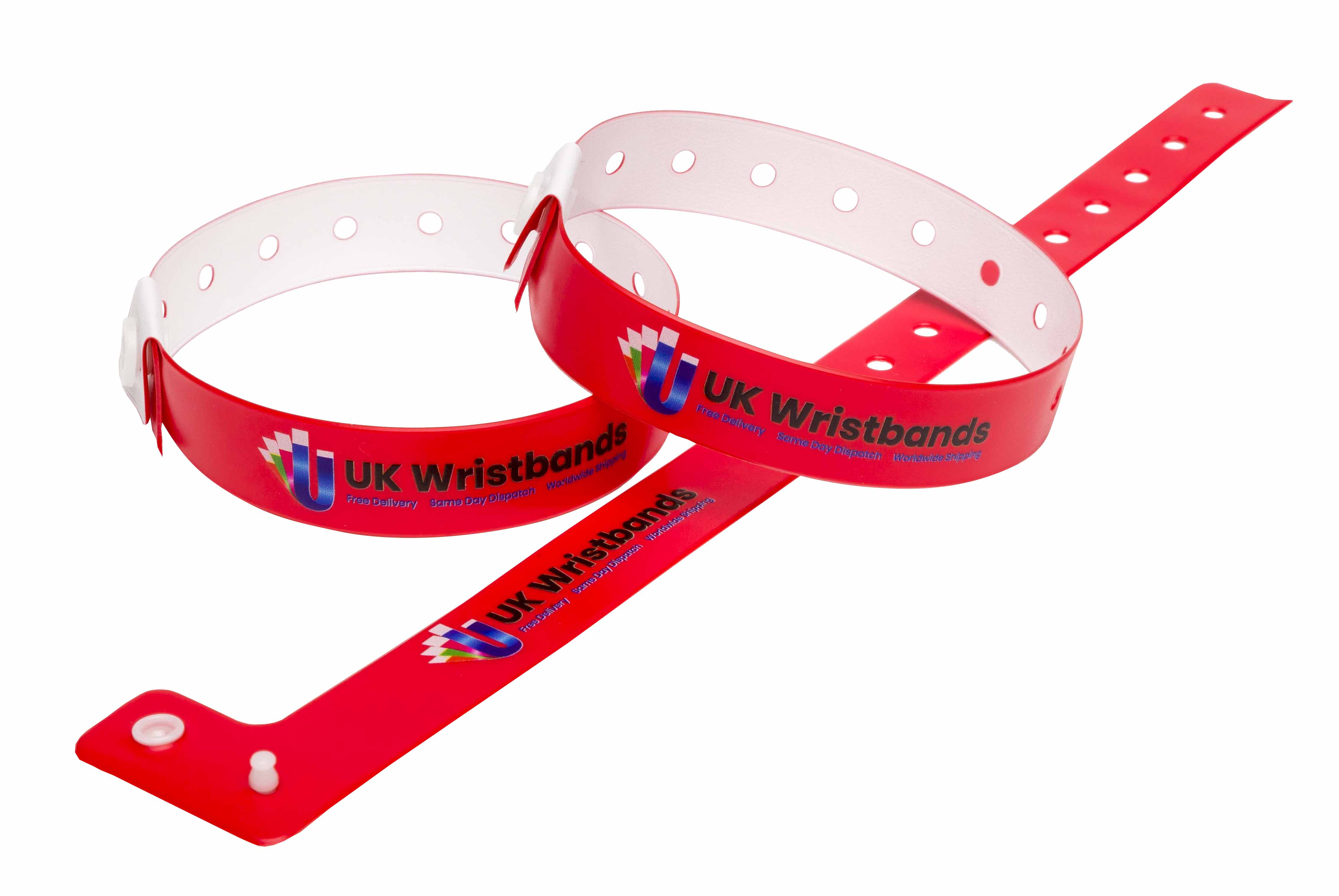 L Shape Wristbands (Red)