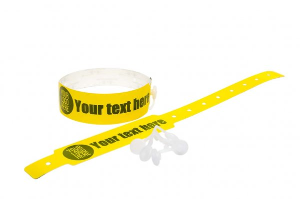 Custom Printed Yellow Vinyl Wristbands