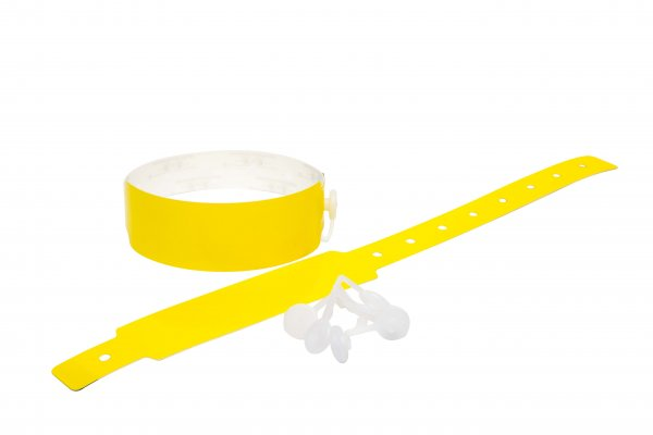 Plain Neon Yellow Vinyl Wristbands