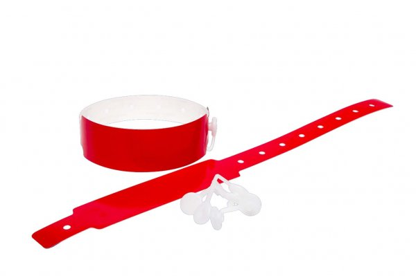 Plain Red Vinyl Wristbands