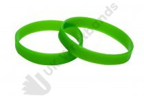 10 Green Silicon Wristbands (PLAIN)