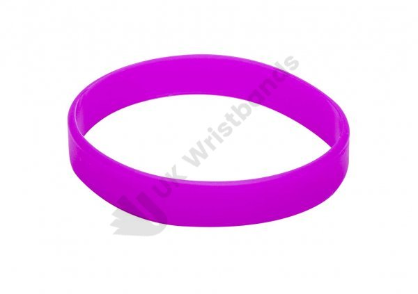 10 Violet Silicon Wristbands (PLAIN)