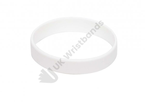 10 White Silicon Wristbands (PLAIN)