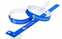 100 Custom printed Neon Blue L Shaped Wristbands