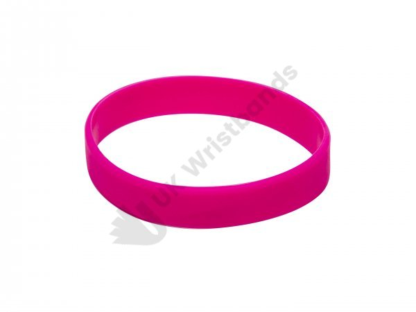 100 Pink Silicon Wristbands (PLAIN)
