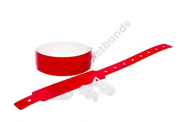 100 Plain Thermal Wristbands (Red)