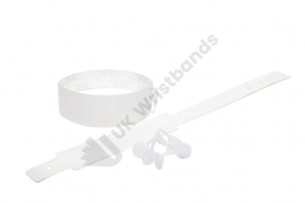 100 Plain Thermal Wristbands (White)