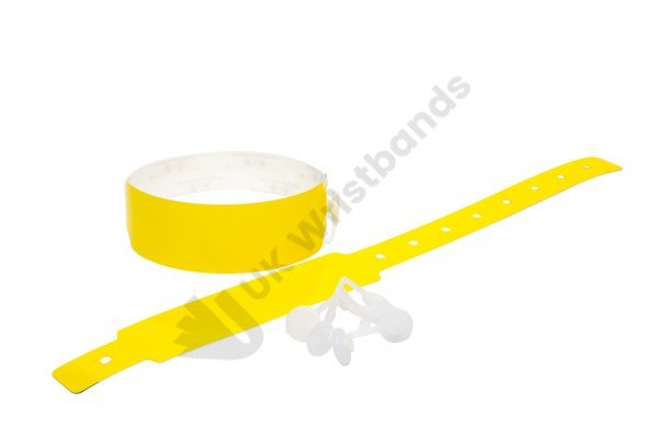 100 Plain Thermal Wristbands (Yellow)