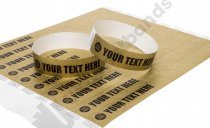 100 Premium Custom Printed Gold Tyvek Wristbands 3/4""