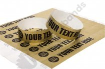 100 Premium Custom Printed Gold Tyvek Wristbands