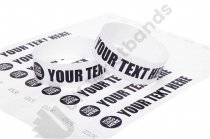 100 Premium Custom Printed White Tyvek Wristbands