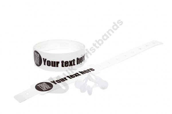 100 Printed Thermal Wristbands (White)