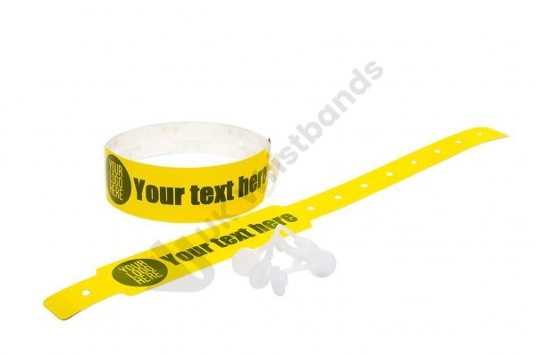 100 Printed Thermal Wristbands (Yellow)