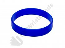 100 Royal Blue Silicon Wristbands (PLAIN)