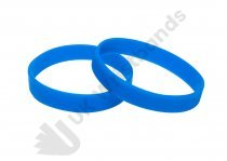 100 Sky Blue Silicon Wristbands (PLAIN)