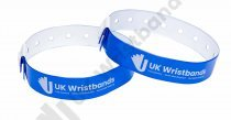 10000 Custom printed Neon Blue L Shaped Wristbands