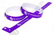 10000 Custom printed Purple L Shaped Wristbands