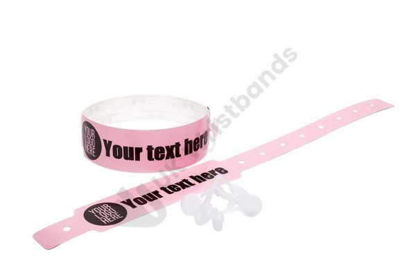 500 Printed Thermal Wristbands (baby Pink)