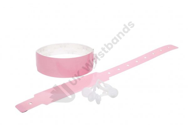 200 Plain Thermal Wristbands (Baby Pink)