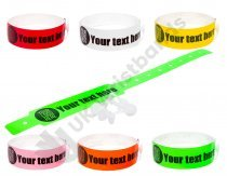 200 Thermal PRINTED wristbands (2 rolls) PRINTED BY UK WRISTBANDS