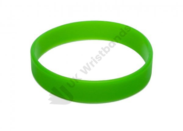 50 Green Silicon Wristbands (PLAIN)