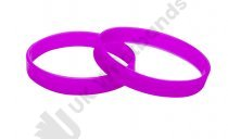 50 Violet Silicon Wristbands (PLAIN)