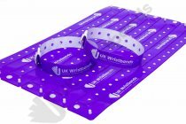 500 Custom printed Purple L Shaped Wristbands