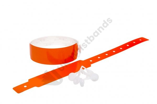500 Plain Thermal Wristbands (Orange)