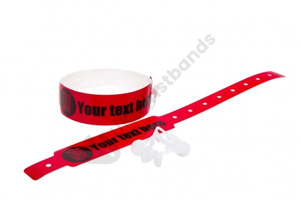 500 Printed Thermal Wristbands (Red)