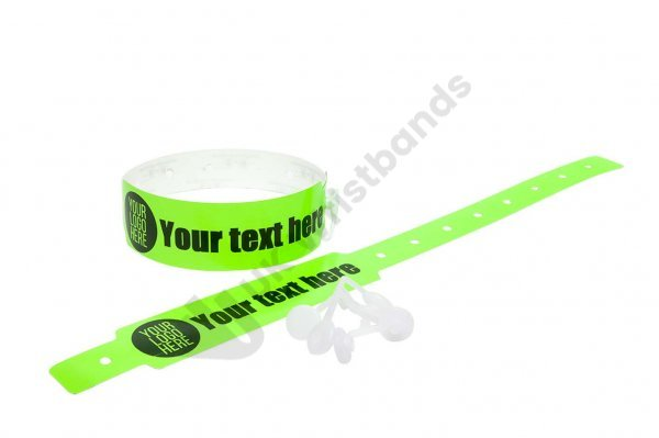 Custom Printed Neon Green Vinyl Wristbands