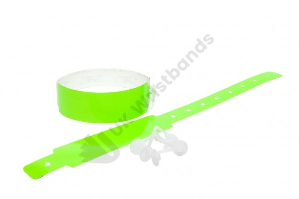 Plain Neon Green Vinyl Wristbands